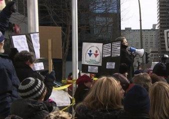 Manifestations contre le Projet de Loi 14