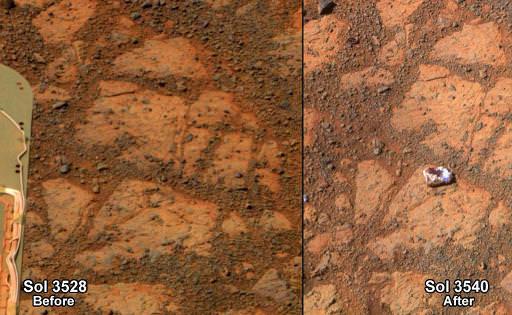 L'apparition mystérieuse d'un caillou sur Mars suscite la curiosité des scientifiques