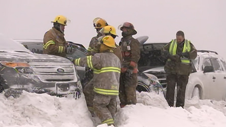 Sainte-Adèle : Plus de quarante véhicules impliqués dans un carambolage sur l'autoroute 15