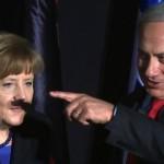 Une photo d'Angela Merkel avec la moustache d'Adolph Hitler crée le buzz