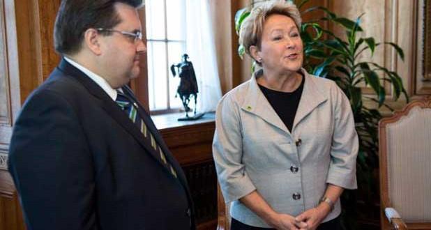 Denis Coderre et Pauline Marois parlent d'économie et écartent le dossier du référendum
