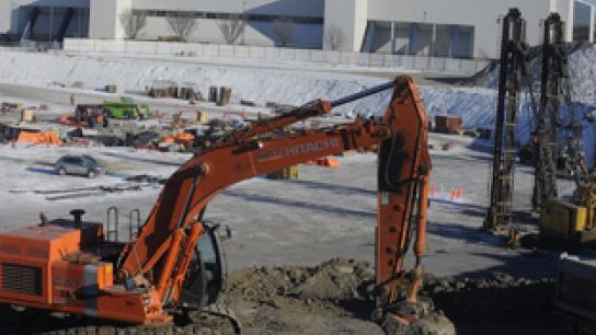 Amphithéâtre de Québec : Régis Labeaume invite les médias à une visite de chantier