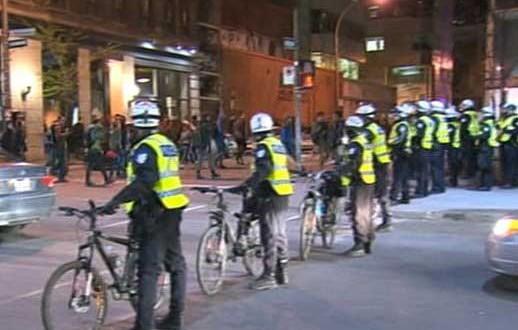 La manifestation des étudiants à Montréal a connu des affrontements et l'arrestation de plusieurs personnes