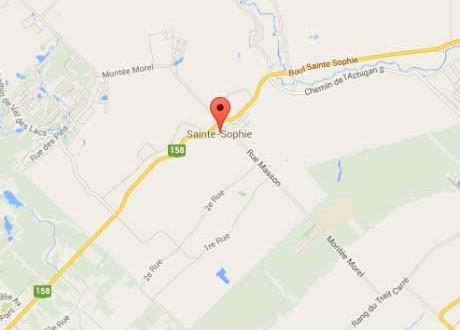 Sainte-Sophie : Un glissement de terrain contraint les autorités à évacuer quatre familles