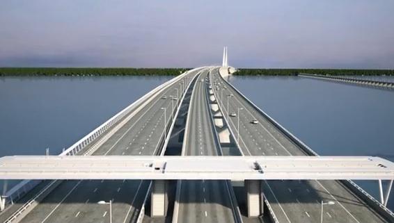 Futur Pont Champlain : Les premiers clichés dévoilés par Denis Lebel