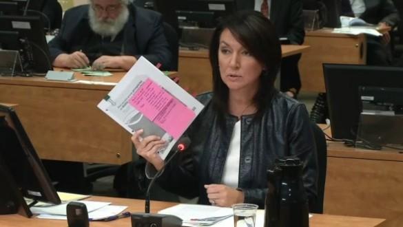 Nathalie Normandeau devant la Commission Charbonneau