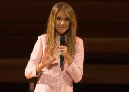 Céline Dion parle de la santé de René Angélil lors d'un spectacle à la Maison symphonique de Montréal