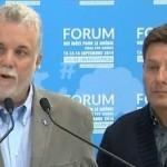 Manifestation des employés municipaux à Saint-Lambert : Philippe Couillard reste ferme