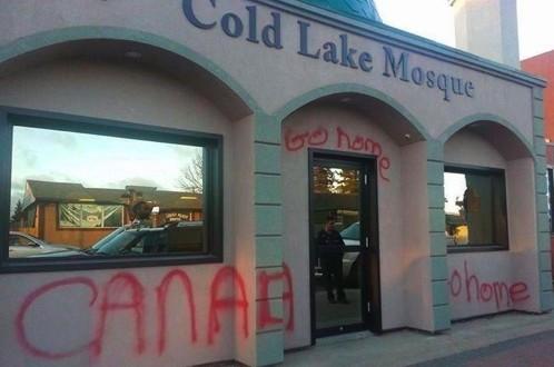 Une mosquée vandalisée à Cold Lake en Alberta