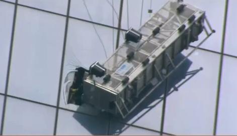 World Trade Center : Deux laveurs de vitres coincés à plus de 541 mètres du sol