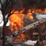 Pointe-Saint-Charles : Un immeuble complètement ravagé par un important incendie