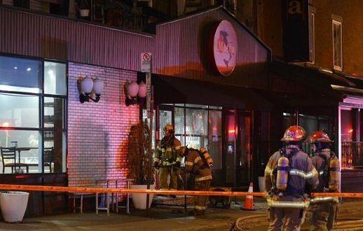 Cocktail Molotov : Une Pizzéria de Montréal victime d'un incendie criminel