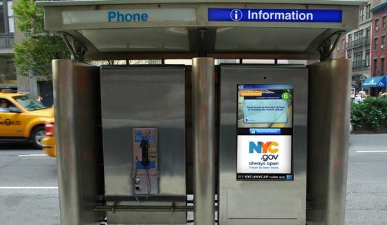 New York : Transformer des cabines téléphoniques en bornes Wifi gratuites