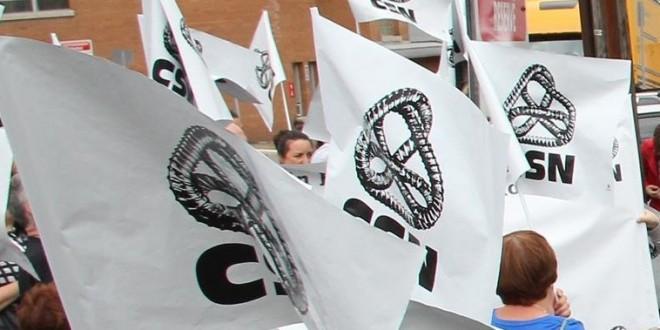 Une mobilisation des syndicats de la FSSS-CSN contre les projets de fusion d'établissements de santé