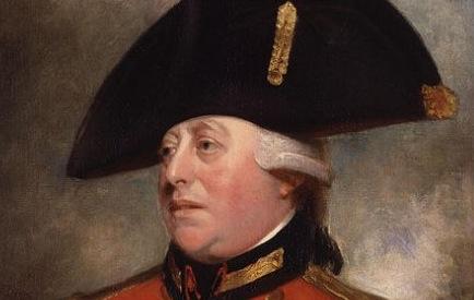 George III du Royaume-Uni a pris la branche d'un arbre pour la main du roi de Prusse