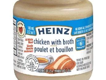 Des petits pots pour enfants de marque Heinz rappelés