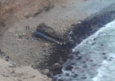 Accident mortel au Pérou : Un autocar chute d'une falaise